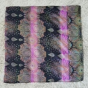 Square paisley scarf